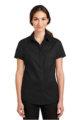 Picture of Port Authority ®  Ladies Short Sleeve SuperPro ™  Twill Shirt. L664