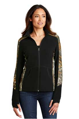 Picture of Port Authority ®  Ladies Camouflage Microfleece Full-Zip Jacket. L230C