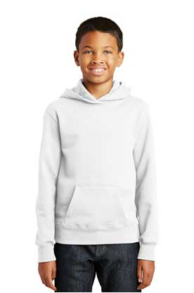 Picture of Port & Company ®  Youth Fan Favorite Fleece Pullover Hooded Sweatshirt. PC850YH