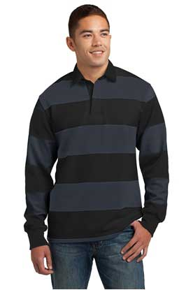 Picture of Sport-Tek ®  Classic Long Sleeve Rugby Polo. ST301