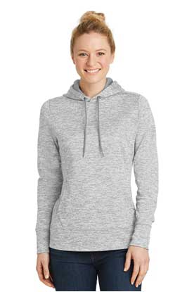 Picture of Sport-Tek ®  Ladies PosiCharge ®  Electric Heather Fleece Hooded Pullover. LST225