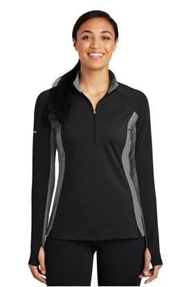 Picture of Sport-Tek ®  Ladies Sport-Wick ®  Stretch Contrast 1/2-Zip Pullover. LST854