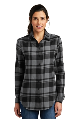 Picture of Port Authority ®  Ladies Plaid Flannel Tunic . LW668