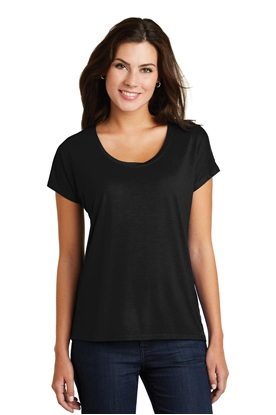 Picture of District Made ®  Ladies Drapey Dolman Tee. DM412