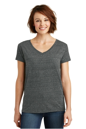 Picture of District Made ®  Ladies Cosmic Relaxed V-Neck Tee. DM465