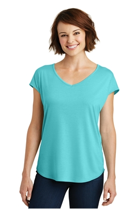 Picture of District Made ®  Ladies Drapey Cross-Back Tee. DM416