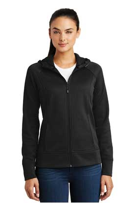 Picture of Sport-Tek ®  Ladies Rival Tech Fleece Full-Zip Hooded Jacket. LST295