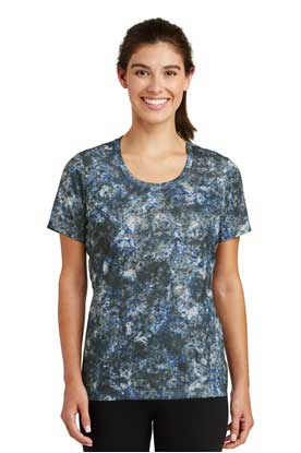Picture of Sport-Tek ®  Ladies Mineral Freeze Scoop Neck Tee. LST330