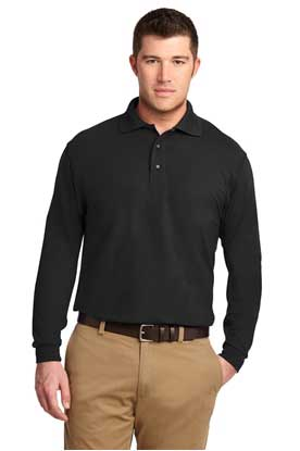 Picture of Port Authority ®  Tall Silk Touch™ Long Sleeve Polo. TLK500LS