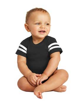 Picture of Rabbit Skins ™  Infant Football Fine Jersey Bodysuit. RS4437