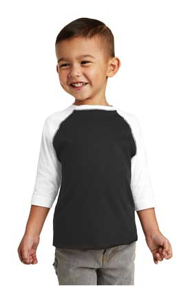 Picture of Rabbit Skins ™  Toddler Baseball Fine Jersey Tee. RS3330