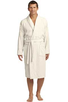 Picture of Port Authority ®  Checkered Terry Shawl Collar Robe. R103