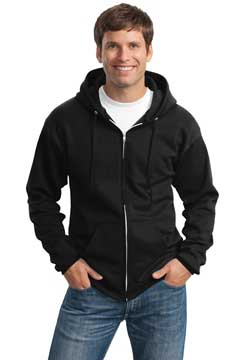 Picture of Port & Company ®  Tall Essential Fleece Full-Zip Hooded Sweatshirt. PC90ZHT