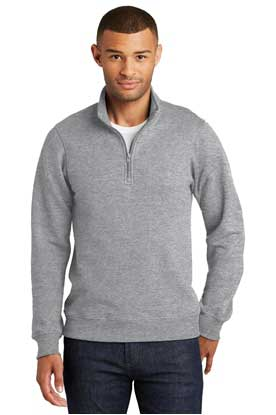 Picture of Port & Company® Fan Favorite Fleece 1/4-Zip Pullover Sweatshirt. PC850Q