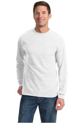 Picture of Port & Company ®  Tall Long Sleeve Essential Pocket Tee. PC61LSPT