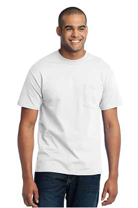 Picture of Port & Company ®  Tall Core Blend Pocket Tee. PC55PT