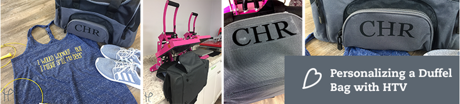 Personalizing Gym Duffel Bags with HTV   Beginner Tutorial
