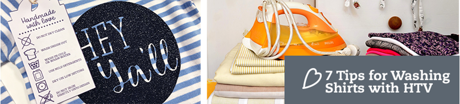 7 Tips for Washing Shirts with HTV