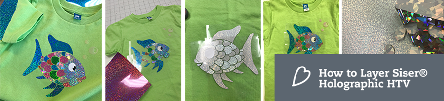 How to Layer Siser® Holographic Heat Transfer Vinyl