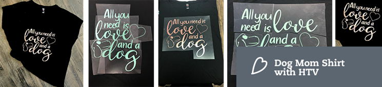Apply HTV to a Dolman Tee | Dog Mom Shirt