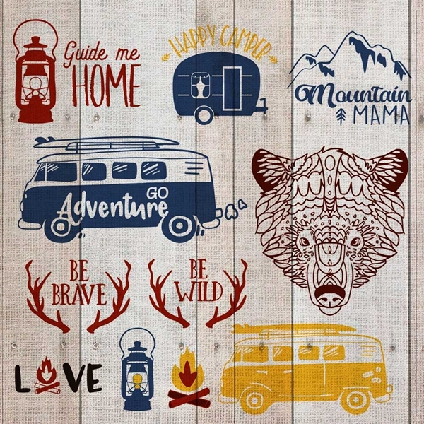 Adventure Camping Svg Cut File Bundle Happy Crafters