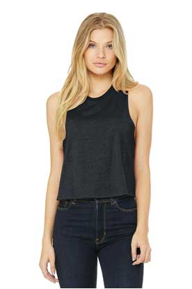 Picture of BELLA+CANVAS  ®  Women's Racerback Cropped Tank. BC6682