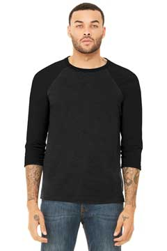 Picture of BELLA+CANVAS  ®  Unisex 3/4-Sleeve Baseball Tee. BC3200