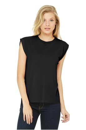 Picture of BELLA+CANVAS  ®  Women's Flowy Muscle Tee With Rolled Cuffs. BC8804