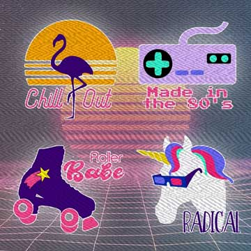 80s themed svg cut files