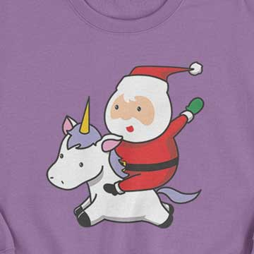 Picture of Happy Crafters Transfer - Santa on Unicorn