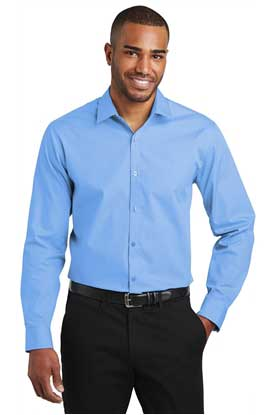 Picture of Port Authority  ®  Slim Fit Carefree Poplin Shirt. W103