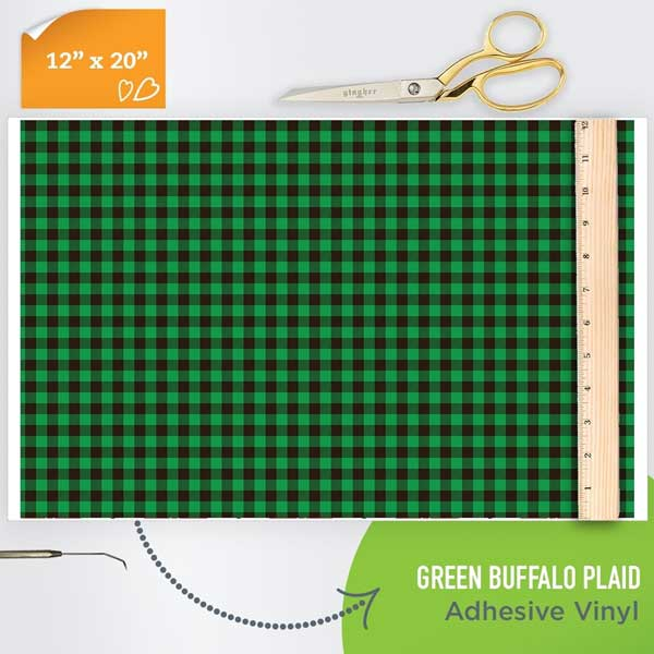 Picture of Happy Crafters Pattern Adhesive Vinyl - Green Plaid