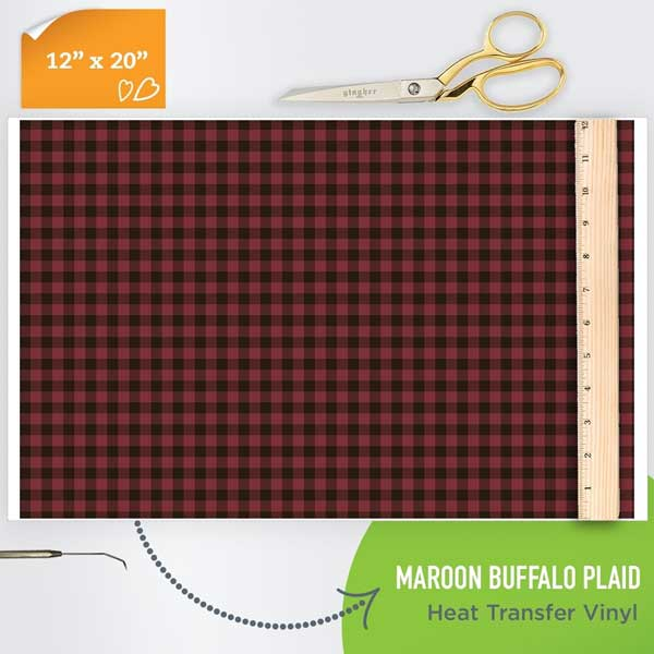 Picture of Happy Crafters Pattern HTV - Maroon Plaid
