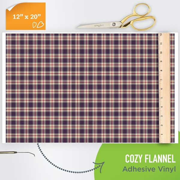 Picture of Happy Crafters Pattern Adhesive Vinyl - Cozy Flannel