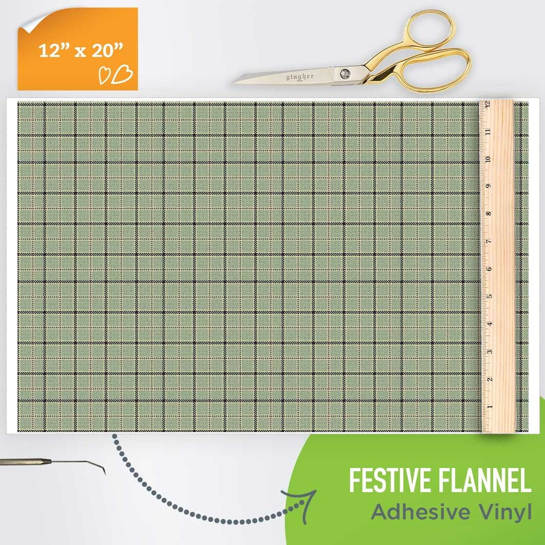 Picture of Happy Crafters Pattern Adhesive Vinyl - Festive Flannel