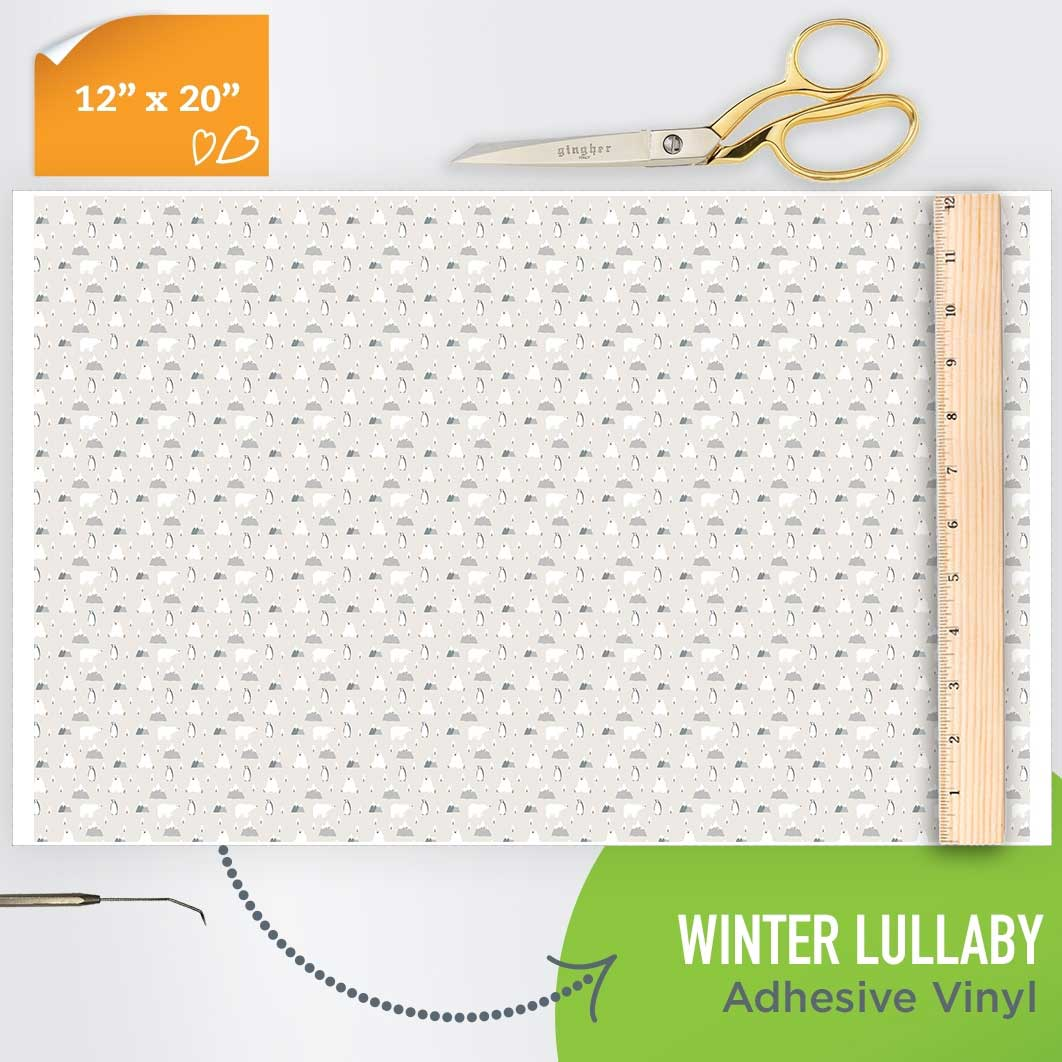 Picture of Happy Crafters Pattern Adhesive Vinyl - Winter Lullaby