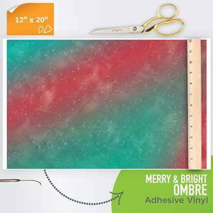 Picture of Happy Crafters Pattern Adhesive Vinyl - Merry & Bright Ombre