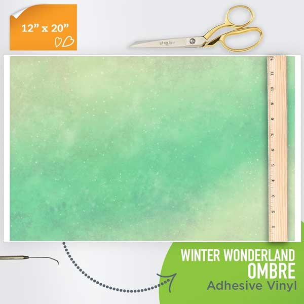 Picture of Happy Crafters Pattern Adhesive Vinyl - Winter Wonderland Ombre