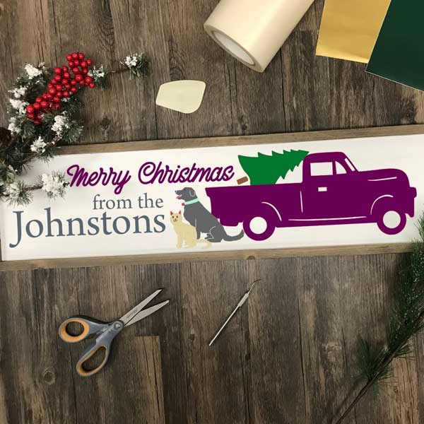 christmas truck svg bundle cut file