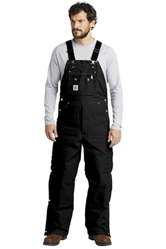 Carhartt® Duck Quilt-Lined Zip-To-Thigh Bib Overalls. CTR41