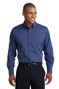Port Authority ®  Tall Tattersall Easy Care Shirt. TLS642