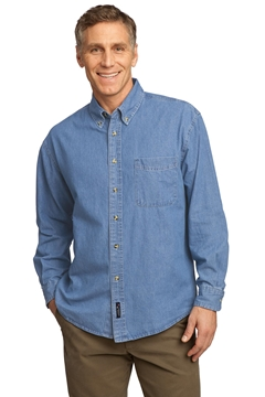 Port & Company ®  - Long Sleeve Value Denim Shirt. SP10
