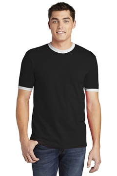 American Apparel® Fine Jersey Ringer T-Shirt. 2410W
