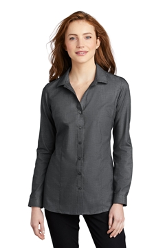 Port Authority® Ladies Pincheck Easy Care Shirt LW645
