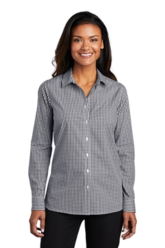 Port Authority® Ladies Broadcloth Gingham Easy Care Shirt LW644