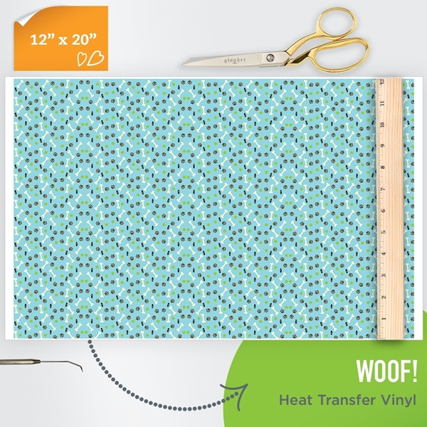 Picture of Happy Crafters Pattern Heat Transfer Vinyl - Woof!